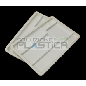 Vassoi monouso in plastica portastrumenti dentale odontoiatria fondello liscio - Pz 400