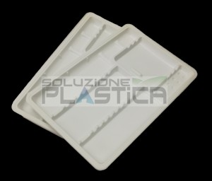 Vassoi monouso in plastica portastrumenti dentale odontoiatria - Pz 400