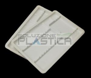 Vassoi monouso in plastica portastrumenti dentale odontoiatria fondello zigrinato - Pz 400